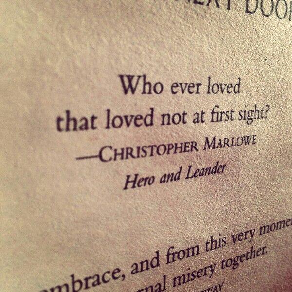 Christopher Marlowe - Hero and Leander