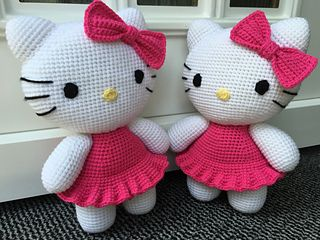 Free hello kitty crochet pattern                                                                                                                                                                                 More