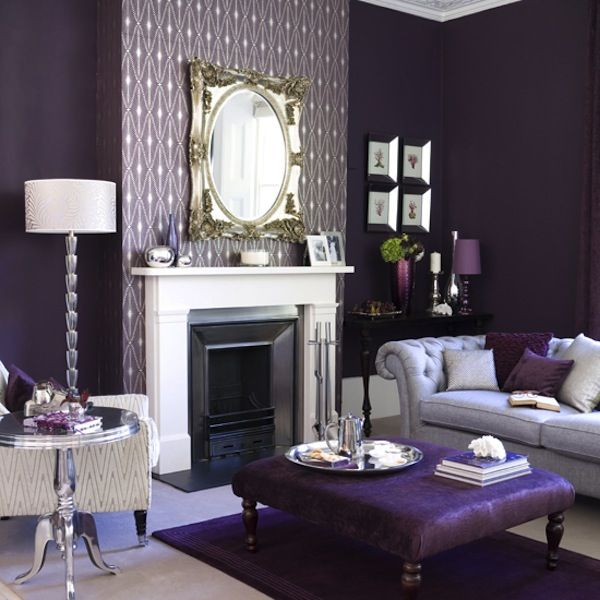 Happy Huesday. Purple Room Decor Ideas   Interior ...