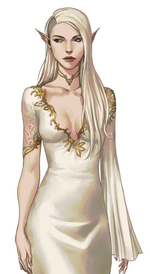 Elfe / Femme / Blonde / Riche / Robe