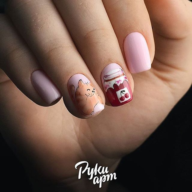 Do you like cats as much as we do? Then try one of these cutest cat nail  designs. Check out the best 45 cat nail art ideas! - 53 Best Cat Nail Designs 2017-2018 Cat Nail Art Manicures With