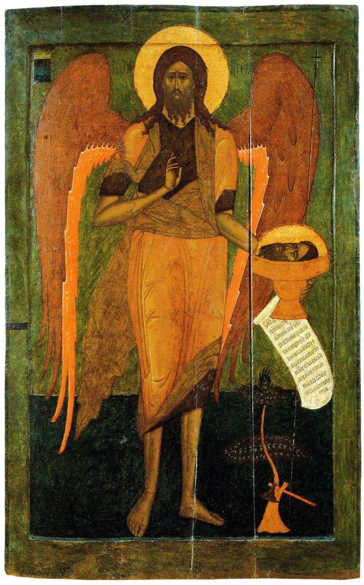 San Giovanni Battista come angelo del deserto. 1560. Rublëv Museum of Early Russian Art. Moscow