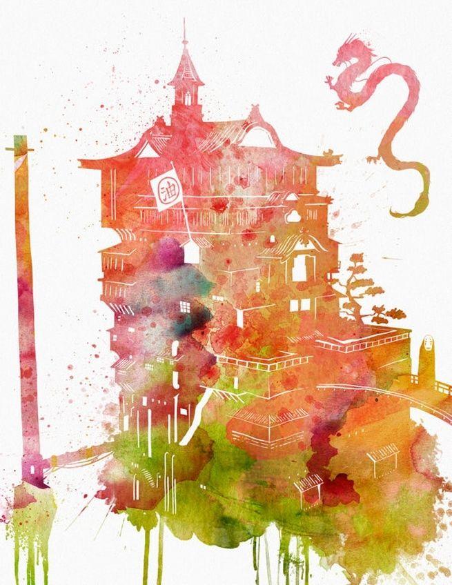 Cool Art: Watercolor Renditions Of Studio Ghibli Films & More | Comicbook.com