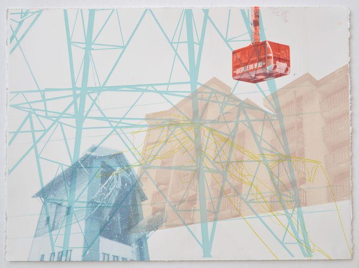 Untitled (Chamonix series) 56.5 x 77 cm    Screenprint, 2013  ©Emily Moore  