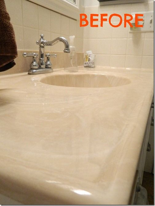 How To Paint Your Sink  Use Tub And Tile Refinishing Paint. Use It For