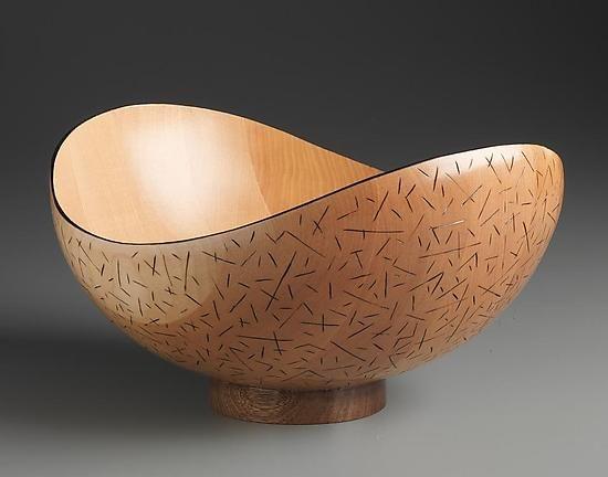 Branded Birch Bowl: Robert Wilhelm: Wood Bowl - Artful Home