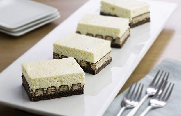 Hershey's Kitchens | Brownie Bottom and KIT KAT® Cheesecake Bars
