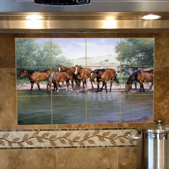 The 25 best western kitchen ideas on pinterest for Crossing the shallows tile mural