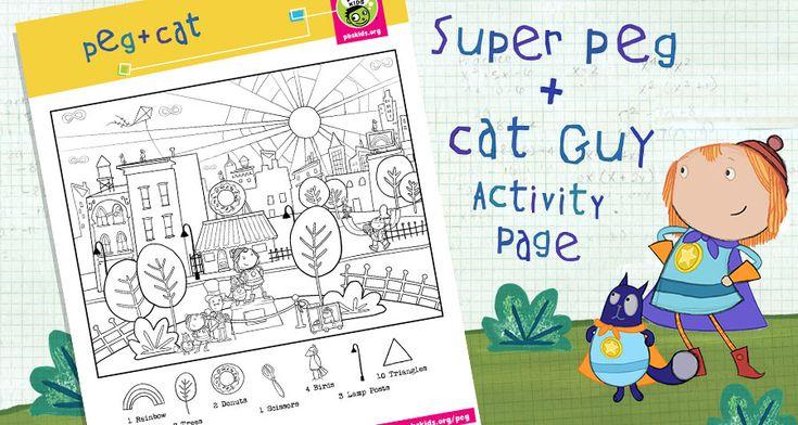 peg cat coloring pages - photo#22