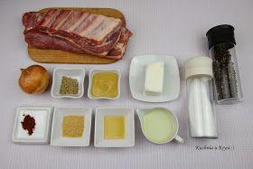 Żeberka w miodzie i musztardzie, pyszne żeberka pieczone z miodem i musztardą, Kuchnia u Krysi
