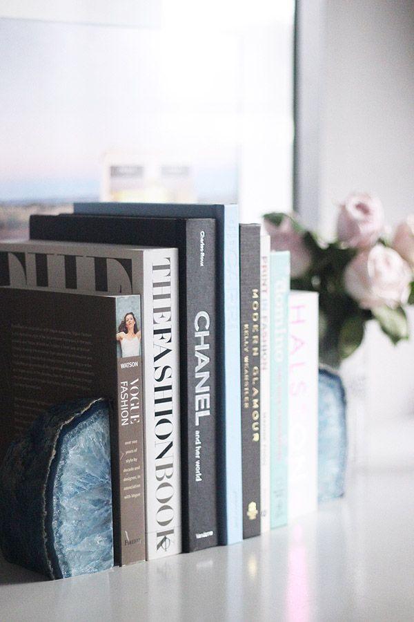 Agate Bookends from Brooklyn Thread | Erika Brechtel | Brand Stylist