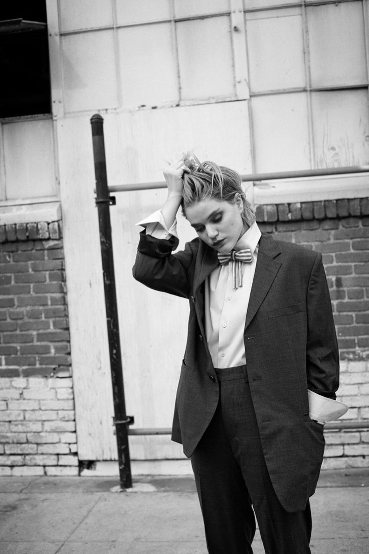 women in menswear - Soko Dons Boyish Chic Style for Eric Guillemain in LUomo Vogue