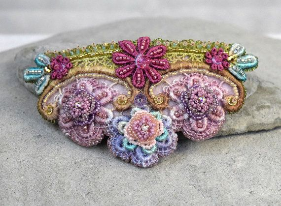 Hey, I found this really awesome Etsy listing at https://www.etsy.com/au/listing/206738187/pink-lace-barrette-lace-hair-piece
