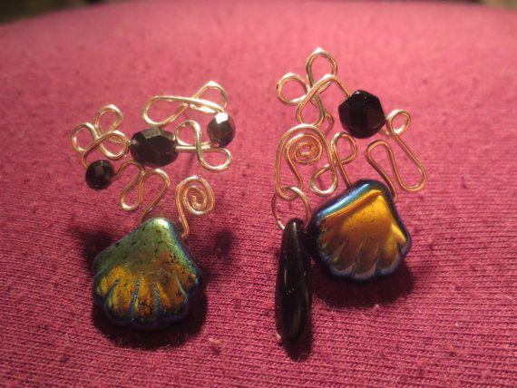 Crazy Mermaid -  Asymmetrical Silver Wire Knot Statement Stud Earrings, Nickel Free