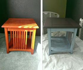 Mission Style end table/coffee table redo
