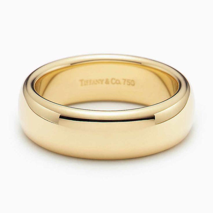 Aliança de casamento Lucida® em ouro 18k, largura de 6 mm.