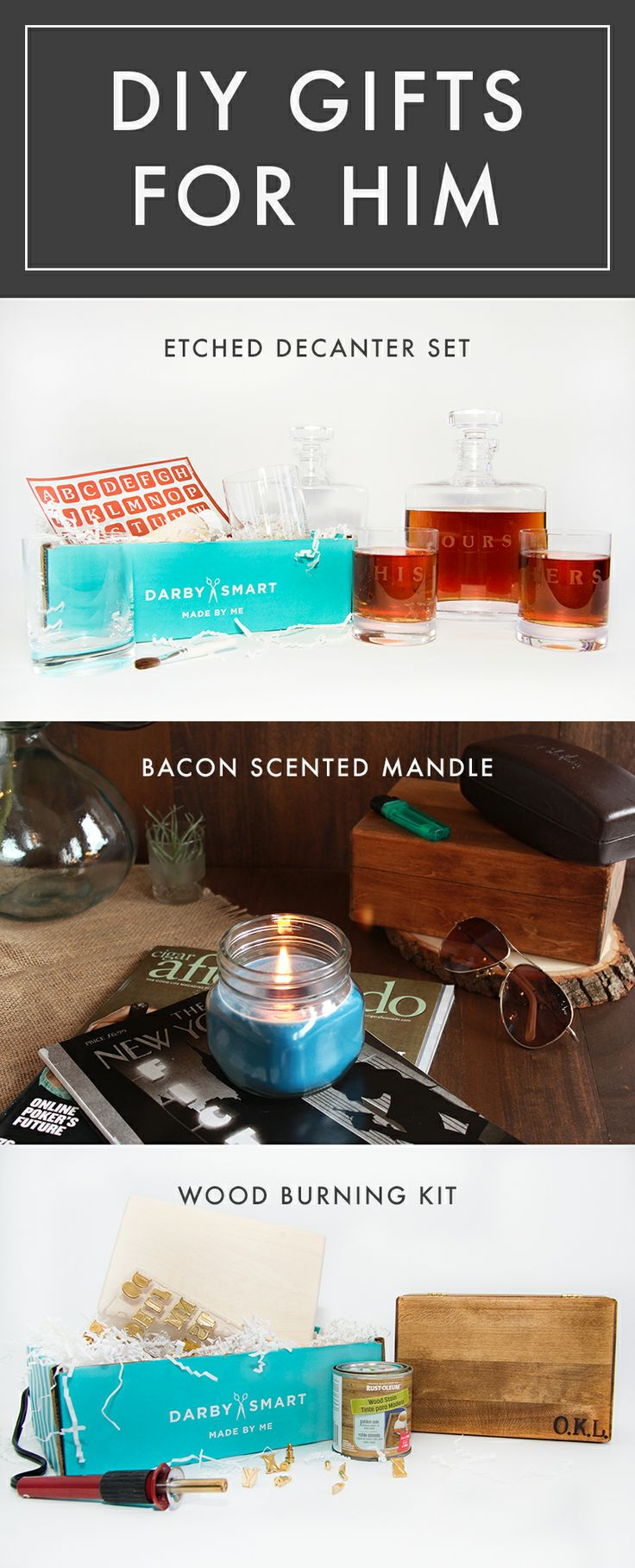 Guys can craft too.   #Darbysmart has it all figured out. Save $10.00 when ordering, use code perfect gift