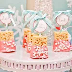 Winter Wonderland Snowflake Holiday First Birthday Party