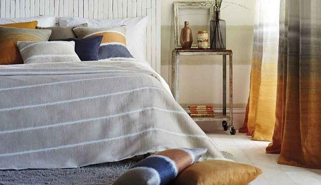 Harlequin Tranquil, from the Landscapes collection. Elegant spray dyed linen voile in 9 attractive colours Available from Vanilla Interiors www.vanillainteriors.co.uk