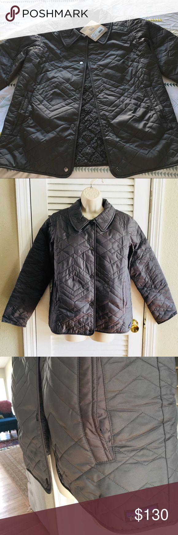NWT Patagonia Women's Quilted Los Gatos Jacket A quilted taffeta jacket lined in 100% polyester fleece by Patagonia. Metal snap center front closure. Side entry hand warmer pockets. Sleeves are not lined with fleece in order to minimize bulk. NWT. Patagonia Jackets & Coats
