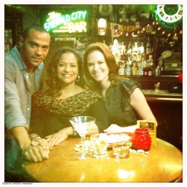 Jesse Williams, Debbie Allen, and Sarah Drew