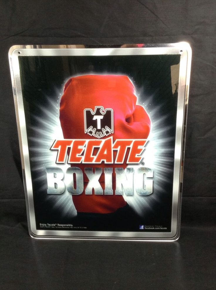 Tecate Boxing Glove Acrylic Beer Sign New Bar Pub Man