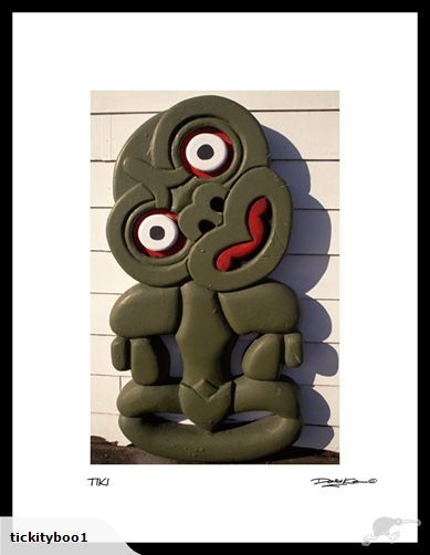 Hei Tiki Photographic FRAMED Print | Trade Me