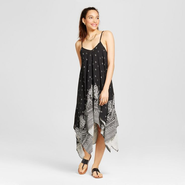 Women's Voluminous Maxi Dress - Xhilaration (Juniors') Black Xxl
