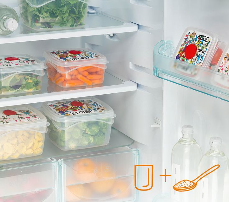 Per rimuovere gli odori nel frigo metti al suo interno un bicchiere con del bicarbonato, assorbirà qualsiasi odore sgradevole. #Bamagroup #frigorifero #cucina