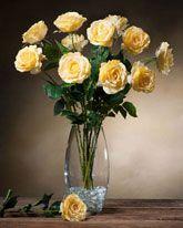 Open Rose Silk Flower Stems at Silkflowers.com