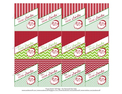 Best 25 from santa gift tags ideas on pinterest santa gift tag printable vintage from santa gift tags anders ruff custom designs negle Image collections