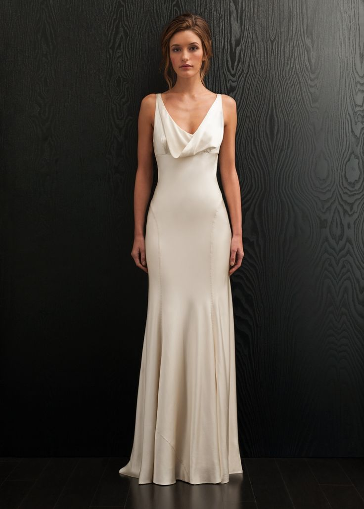 Simple Amanda Wakeley for #vintage brides
