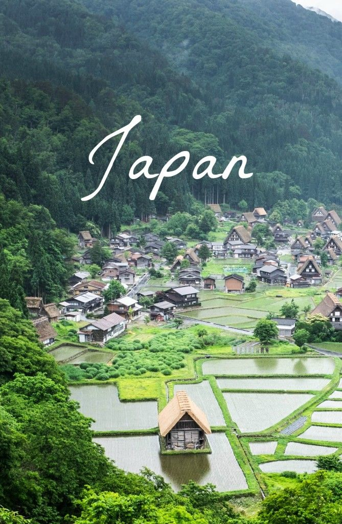 Thatched roof homes in Shirakawago, Japan. Check out these lesser-known stops from our Japan itinerary! #japan #travel