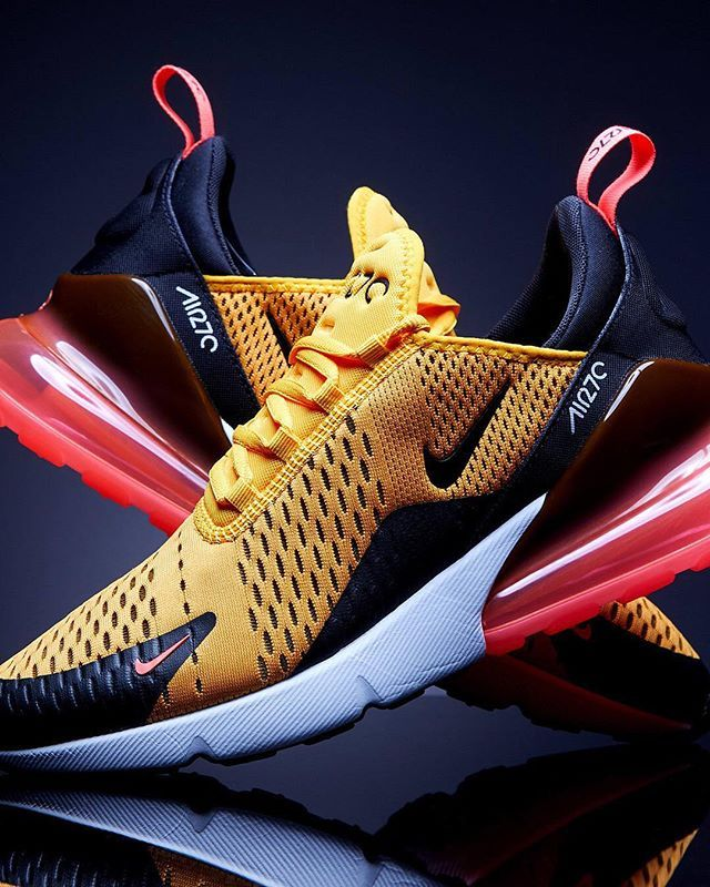 the latest 41df8 04c97 The NIKE AIR MAX 270 TIGER is about to blow up in a new striking yellow red  and black colourway - Hit the link in our bio for more info.