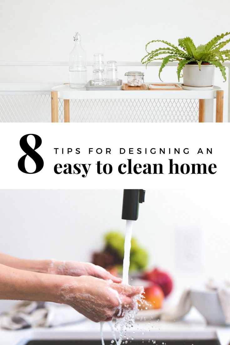 8 tips for designing a home that is easy to clean | easy to clean home | home design tips | 3 home design mistakes | wall hung vanity | wall hung toilet | self-opening garbage | under-mount sink | designing a home | easy to clean home fixtures | ourguidetotheeveryday.com