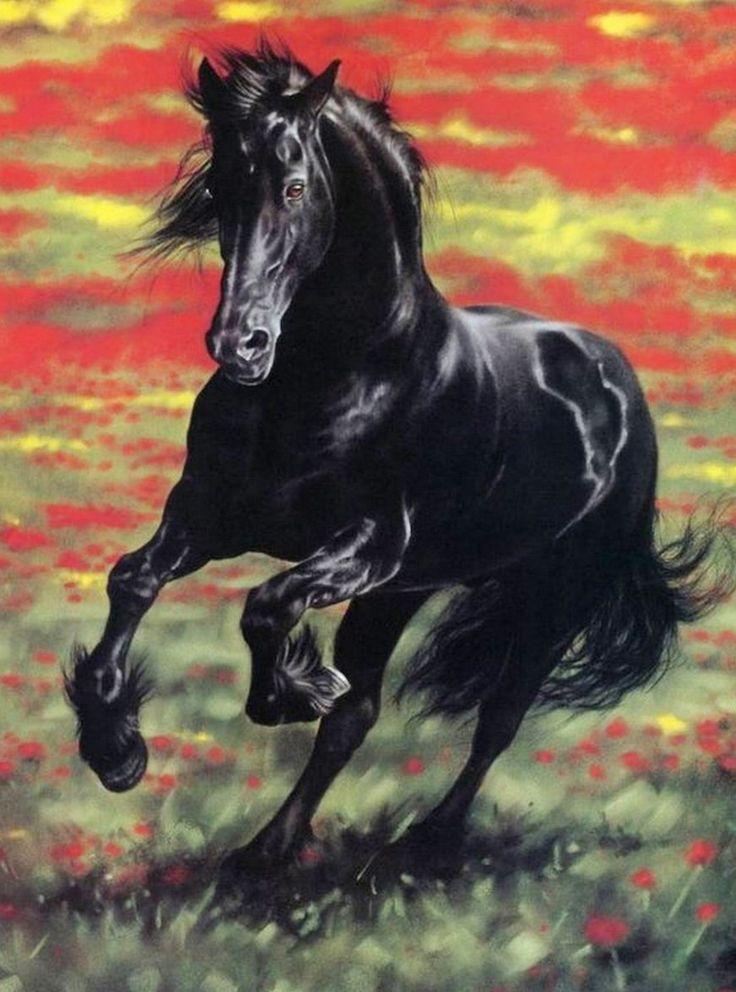 Pintura moderna al leo realismo cuadros de caballos - Cuadros abstractos paso a paso ...