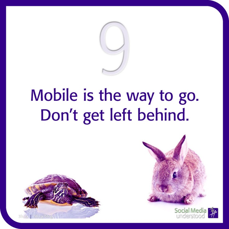 Mobile is the way to go. Don't get left behind. How are you getting up-to-the-minute updates from Facebook or Twitter? Mobile bodies cover more ground! Have your information available on every platform, not just a computer screen. Download the eBook Social Media Understood: http://3h.ca/ebook_social_media.php
