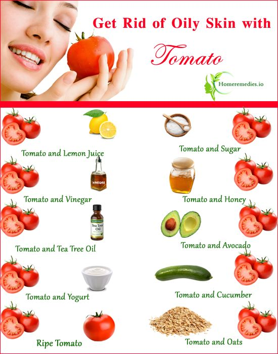 How to use tomato for oily skin care routine? Fast home remedies for oily skin treatment. Best DIY Oily skin Masks, scrubs to prevent oily face.