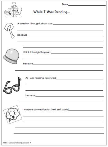 read write and think worksheets for 4th