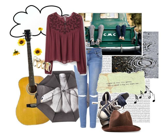 """Hay ángeles volando en este lugar"" by brensbenze ❤ liked on Polyvore featuring MANGO, H&M, Converse, REINHARD PLANK and Music Notes"