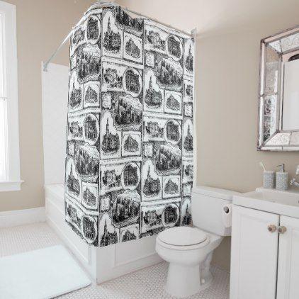 1896 Vintage Sydney Australia Shower Curtain - shower curtains home decor custom idea personalize bathroom