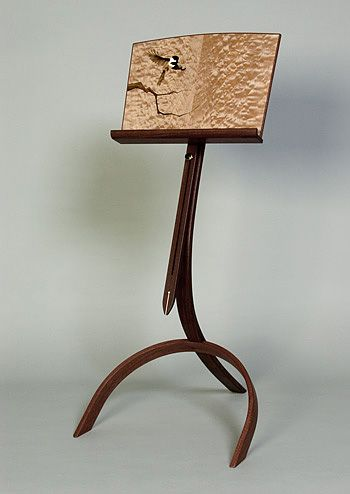 music stand Custom Music Stand with marquetry by Matthew Werner