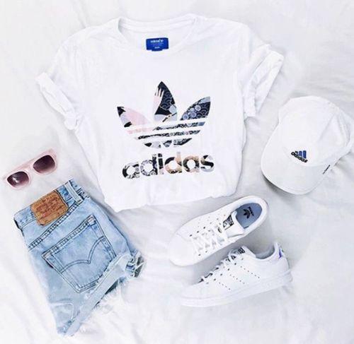Adidas, white, shoes, tumblr, adidas cap, sunglasses
