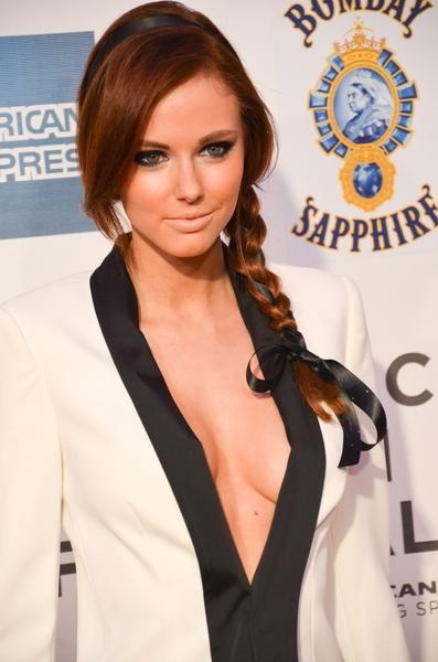 We love how Alyssa Campanella's ribbon headband is woven through her long side braid and tied off in a neat little bow.