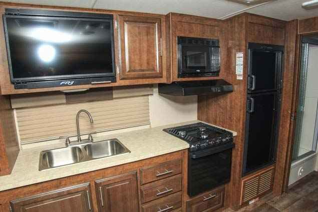 2016 New Forest River FR3 Class A in Washington WA.Recreational Vehicle, rv, 2016 FOREST RIVER FR3, This new 2016 Forest River FR3 30DS is equipped with two slide outs, driver and passenger swivel seats, pleated day/nightshades, a cozy sleeper sofa, an LED TV in the kitchen that pops up for additional storage and a power drop down bunk over the cab. In addition, there is a booth dinette for dining and additional sleeping quarters. The kitchen is equipped with a double bowl stainless steel…