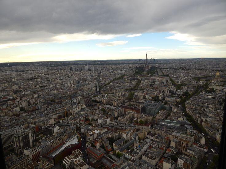 #PanoramicViewofParis #Panorama #Paris #CloudyParis #ViewfromMontparnasse #Montparnasse