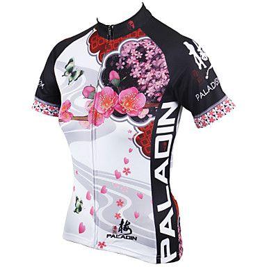 PALADIN®+Camisa+para+Ciclismo+Mulheres+Manga+Curta+MotoRespirável+/+Secagem+Rápida+/+Resistente+Raios+Ultravioleta+/+Compressão+/+–+BRL+R$+66,89