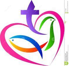 christian symbols | vector drawing represents christian love symbol design.