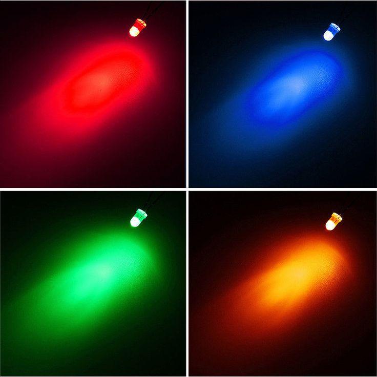 160pcs 3mm LED Light DIY Red Green Blue Yellow Diodes Assortment Kit