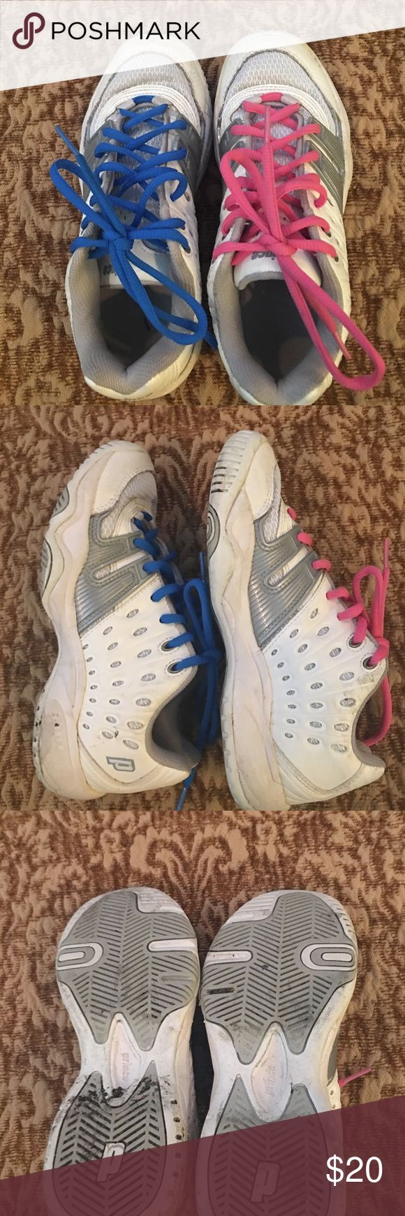 Prince girls tennis shoes Worn one month at camp last summer Prince Shoes Sneakers